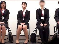 Amazing Japanese gal Minami Kashii, Sena Kojima, Riina Yoshimi in Hottest casting, office JAV scene