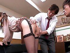 Luxurious Japanese whore Hina Akiyoshi in Hottest JAV censored Office, Meaty Mounds video