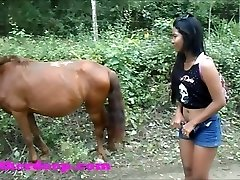Heather Deep 4 wheeling on scary fast quad and Pissing next to horses in the