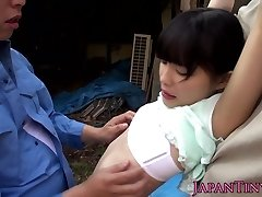 Tiny japanese outdoors fingered
