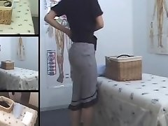 Cute Jap MILF frigged in hidden cam massage room video