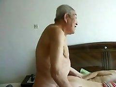 Incredible japanese aged people having great sex