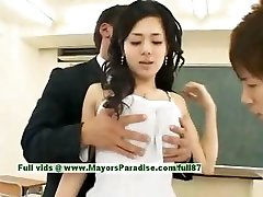 Sora Aoi virginal sexy asian student is getting pulverized in the classroom