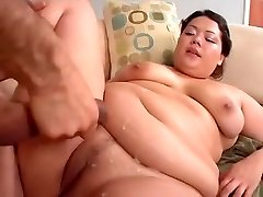 Chubby youthful asian loves ice-splooge and cock