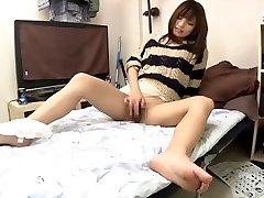Sizzling and creamy Japanese masturbation