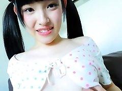 Stunning Jav Teenager Moe Goto Teases Taking Her Panties Off
