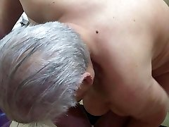 Chubby Chinese Granny With Very Saggy Knockers