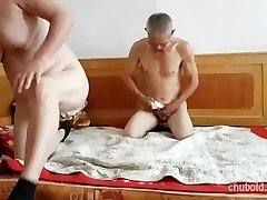 Sumptuous Chinese grandpa giving fucking