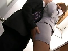 Haruki Sato gets romped in her husband�s office