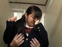 Wild Japanese girl in Exclusive Anal/Anaru, Blowjob/Fera JAV tweak pretty one