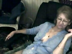 Lovely granny with glasses 3 triple pus