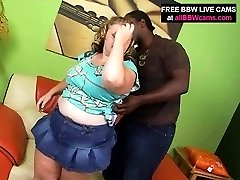 Blond Amazing Bbw Sucks And Fucks Black Guy Big Tits Part 1