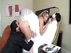 Alanah Rae is a warm bride who gets a large weenie for her pleasure