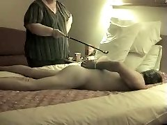 Getting Candle waxed by my Mistress