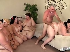 5 Horny BBWs pounded by 3 cocks