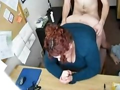 Fucking my Horny Monstrous BBW Secretary on Hidden Web Cam