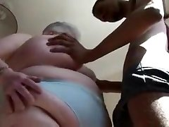 Fat British Mature Gargles DIck