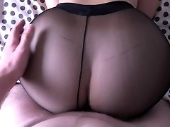 Girl with monstrous ass humping in pantyhose.
