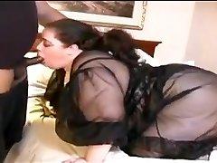 Bbw White Wife Fucks Small Dark-hued Dick