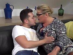 Desperate mommy seduce and fuck successful son