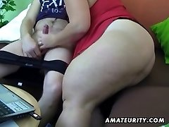 Obese first-timer wife homemade suck and fuck