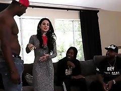 Big Black Cock Slut Joanna Angel Enjoys Interracial Gangbang And DP
