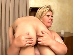 BBW breaks and humiliates weak hot blonde