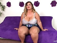 Big boobed gigantic girl Hailey Jane nude and fucking