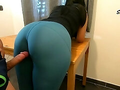 Step Mother teases, rubs because she just wants to be fucked by her Step Stepson again, enjoys cock too much