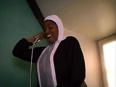 African French nun sucking and fucking big black cocks
