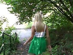 beauty blond public pee