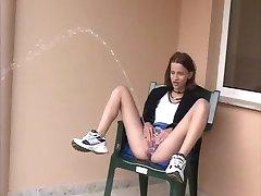 sexy kinky skinny teen outdoor power piss 3