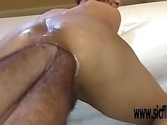 Double anal fisting extreme unexperienced Latina