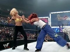 trish and lita vs stacey and torrie wrestling divas hooter-sling and undies match