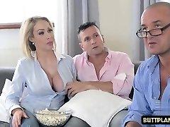Big tits wifey deepthroat and cumshot