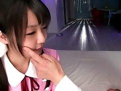 Otroligt Japansk flicka i Utmärkt JAV censurerade Fingering, Små Bröst film