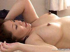 Super-hot mature Asian babe Wako Anto likes position 69