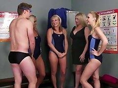 Fellow joins the swim team