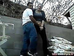 Amatör offentlig par knullar på cam