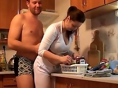 busty czech amateur drilling around the house by eliman