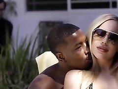 Olivia Austin fucked by ebony thug, cucks little white husband