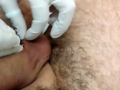 Piercing of the testicles