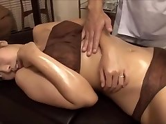 The young wife was tempted by the masseur's big cock, penetrated nearby husband