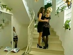 Maid sneaks on  lesbos