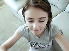 Hot teen point of view and cumshot