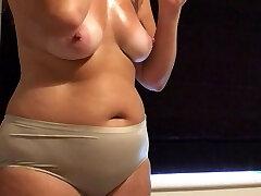 Big pants ultra-cute tits