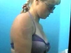 Hidden Cam cam in beach cabin