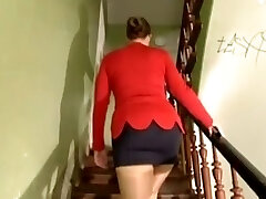 Busty German girl gang-fucked for paints
