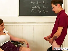 Glamorous and horn-mad prof with juicy bum Sovereign Syre is fucked on table