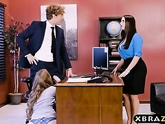 Office threesome with two bosses and a cool employee